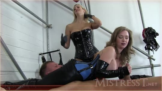 Mistress Tests and Milks Her New Slave